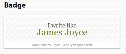 I write like badge