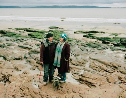 couple on seashore